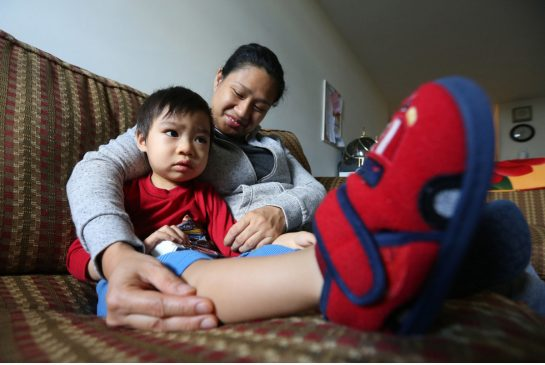 Steve Russell / Toronto Star Order this photo Escaping an abusive marriage, Laurice Loo is piecing her life together with a woman-focused job training program. Her young son Timothy is currently in daycare.